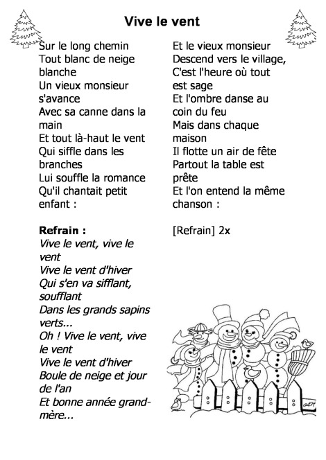 Paroles Chansons De Noël