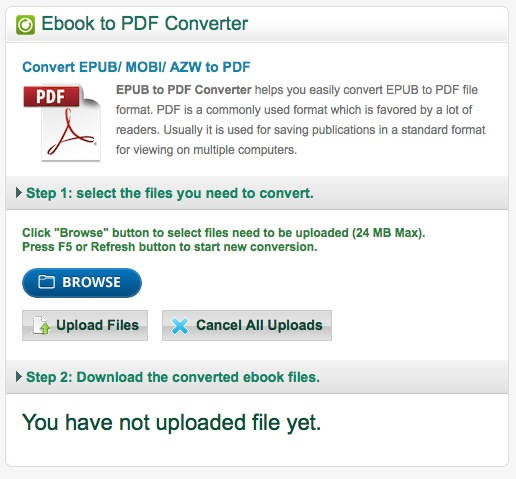 online ebook to pdf converter