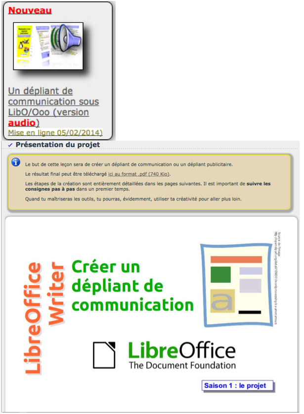 R aliser un d pliant de communication avec libreoffice - Realiser un organigramme open office ...