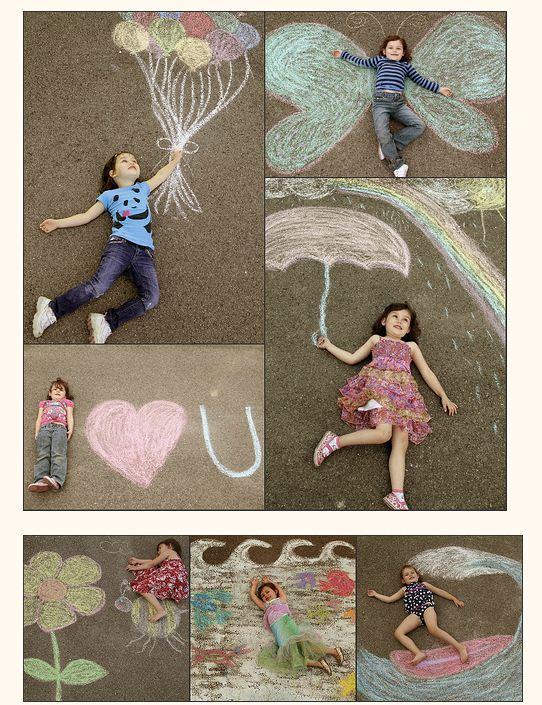 Theburghbaby photos d 39 ext rieur dessins craie enfants bdrp - Dessin a la craie ...