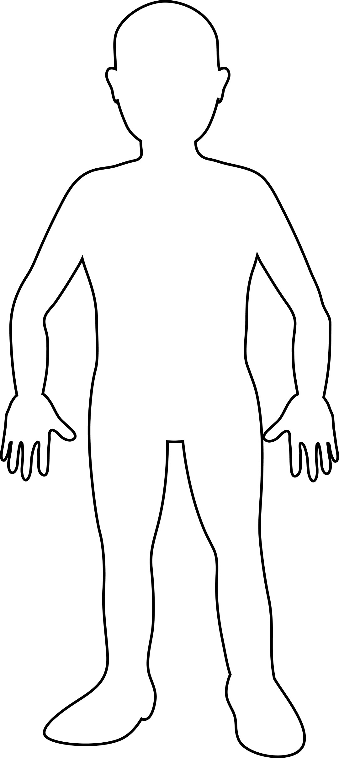 It is an image of Comprehensive Printable Human Body Outline Template Pdf